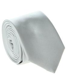 Robert Daniel Plain Skinny Tie Grey