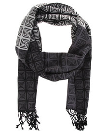 Robert Daniel Cashmere Feel Geometric Square Scarf Multi