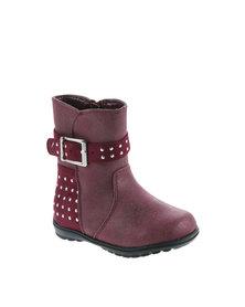 Rock n Co Tweety Boots Burgundy