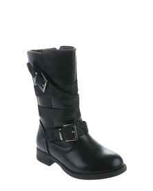 Rock n Co Maggie Mid Calf Boot Black