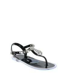 Rock n Co Mia Girls Jelly Sandals Black