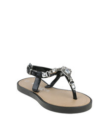 Rock n Co Emma Infants Flat Jelly Sandals Black
