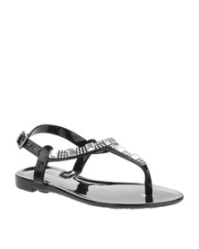 Rock n Co Michelle Toddler Jelly Sandals Black