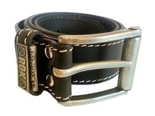 ROK Genuine Leather Belt Standard Buckle Black