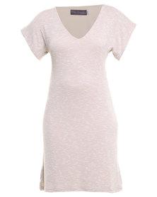 Roslyn Jacqueline Summer Knit Dress Stone