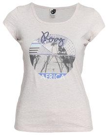 Roxy Coast Of Africa T-Shirt Oatmeal
