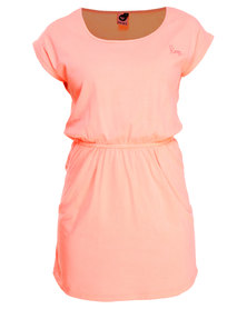 Roxy Dew Drop Dress Pale Orange