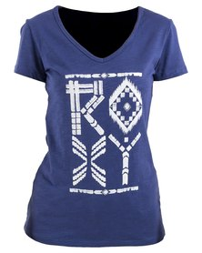 Roxy Tribes T-Shirt Blue