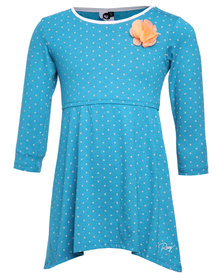 Roxy Dit Dot Sweet Spot Dress Blue