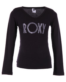 Roxy Sand Stone Long Sleeve T-shirt Black