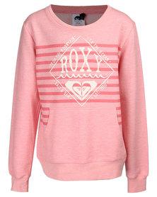 Roxy Hazy Day Pullover Sweatshirt Pink