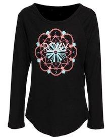 Roxy Circle of Light T-Shirt Black