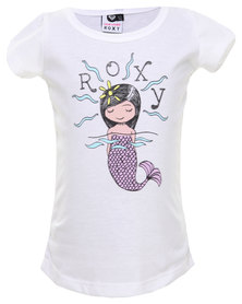 Roxy Crazy Big World Tee White