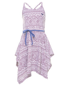Roxy Creek Side Dress White & Purple