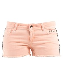Roxy Low Sun Overdyed Shorts Peach