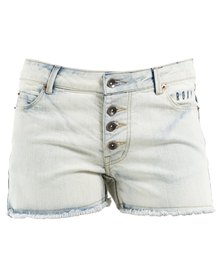 Roxy Way Back Bleached Denim Shorts