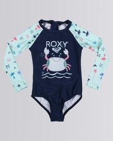 Roxy Tods Desert Adventure Onesie Swimsuit Blue