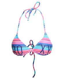 Roxy Coast Is Clear Triangle Bikini Top Multi