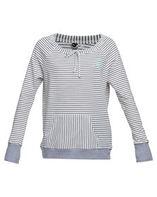 Roxy Play Everyday Long Sleeve Stripe Top Grey