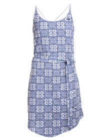 Roxy Bubble Yum Dress Cream/Blue