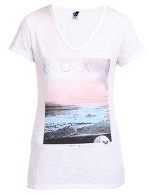 Roxy On the Shore Short Sleeve Tee Cream