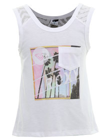Roxy Take My Breath Top White