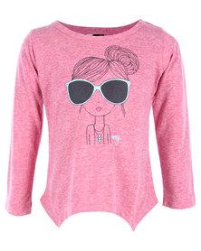 Roxy Beach Roll Tee Pink