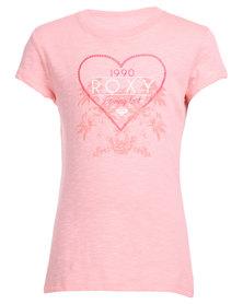 Roxy Wilder Side Tee Pink