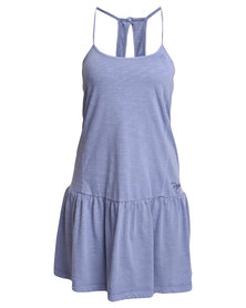 Roxy Pacific State Strappy Dress Blue