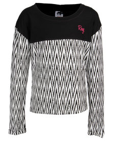 Roxy Girls Chevron Seas T-Shirt