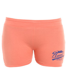 Russell Athletic Shorts With Graphic Print Coral