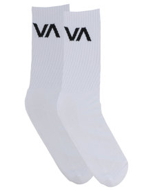 RVCA VA Sport Socks White
