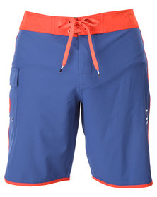 RVCA Eastern 20 Trunks Blue and Red