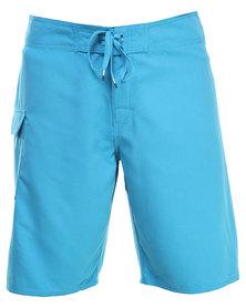 RVCA Western II Trunk Shorts Blue