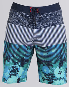 RVCA Back Room Trunk Federal Blue