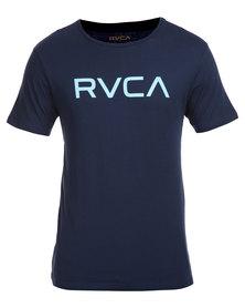 RVCA Big RVCA Standard Tee Blue