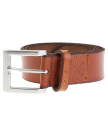 RVCA Sycamore Leather Belt Brown