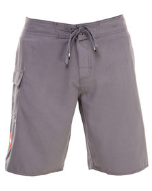 RVCA Western II Trunk Shorts Grey