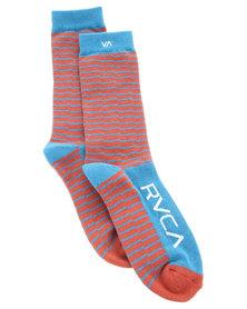 RVCA Makeshift Socks Red