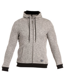 RVCA Small Flipped Zip Jacket Grey