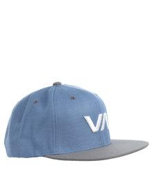 RVCA VA Snapback Cap Blue