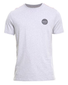 RVCA Motors Chest Std Tee Grey