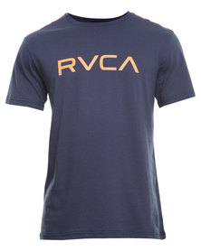 RVCA Big RVCA Std Tee Navy