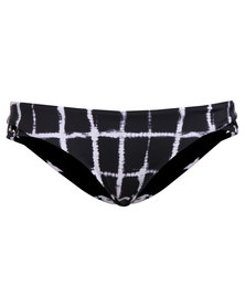 RVCA Painted Cheeky Bikini Briefs Black