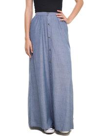 RVCA Lush Deserts Maxi Skirt Blue