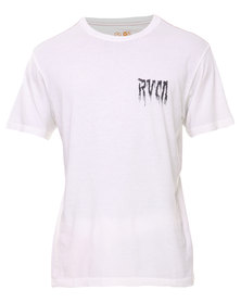 RVCA Skeleton On Kids Tee White