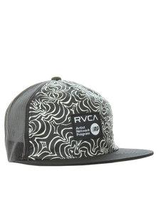RVCA Kelsey Brookes Printed Trucker Cap Black