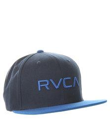 RVCA Twill Snapback Cap Navy