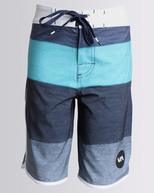 RVCA Session Trunk Shorts Blue