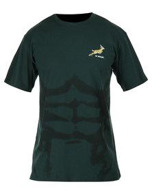 SA Rugby Short Sleeve Print Tee Green